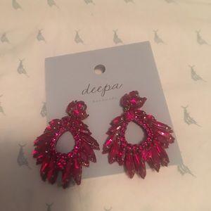 Red brilliant earrings